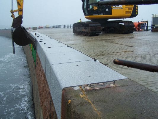 granite pier blocks on site